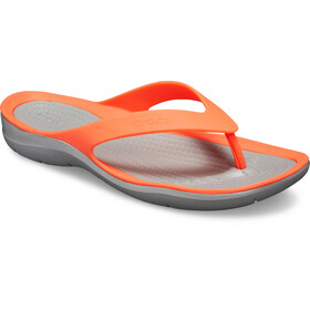 Crocs Swiftwater sandaalit Naiset, bright coral/light grey